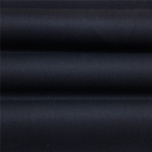 45%Wool 55%Polyester black serge military office uniform fabric