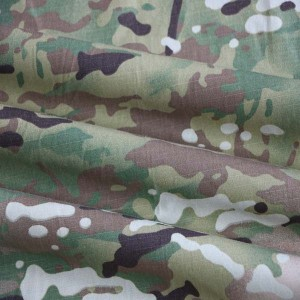 Nylon cotton multicam camo ripstop fabric